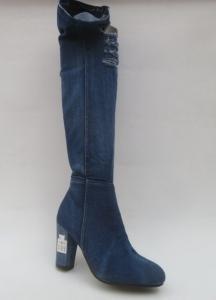 Женская обувь осень - оптом оригинальные джинсовые сапоги H199 D.BLUE