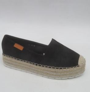 """Купить Кеды женские оптом - слипоны, криперы, эспадрильи Obuw H8-135 BLACK. Обувь оптом - """"Первый обувной"""""""