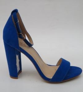 Дешевая обувь оптом - купить модные яркие синие босоножки J76-12 NAVY