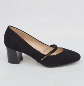 Женские туфли оптом - замшевые туфли JL830-2 BLACK