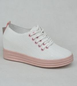 """Купить Кеды женские оптом - слипоны, криперы, эспадрильи Obuw FC732-11 WHITE/PINK. Обувь оптом - """"Первый обувной"""""""