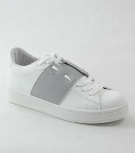 """Купить Кеды женские оптом - слипоны, криперы, эспадрильи Obuw V99 BIANCO/GREY. Обувь оптом - """"Первый обувной"""""""