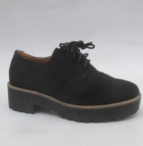 Женские туфли оптом - модные броги LL185 BLACK