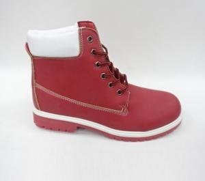 Женская обувь осень - оптом стильные ботинки  ls002-13 red