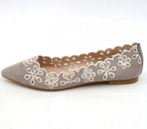 Женские туфли оптом - стильные балетки LT99 GREY