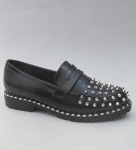 Женские туфли оптом - черные стиляжные туфли M-1A BLACK