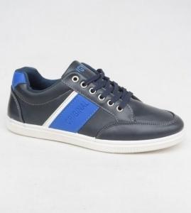 Мужские качественные кроссовки M7038-2 BLACK/BLUE - купить оптом