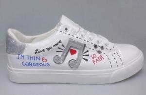 """Купить Кеды женские оптом - слипоны, криперы, эспадрильи Obuw M898 SILVER. Обувь оптом - """"Первый обувной"""""""