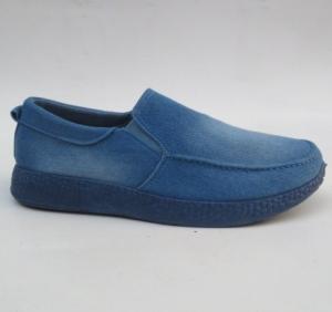 Мужские туфли оптом - стиляжные джинсовые туфли HJ-2 L.BLUE