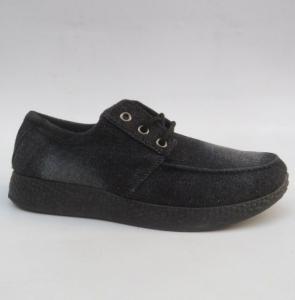 Мужские туфли оптом - мужские джинсовые туфли HJ-3 BLACK