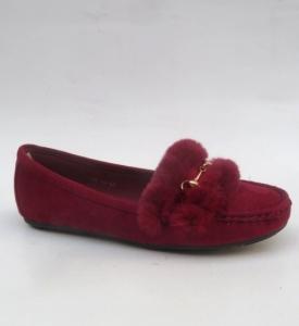 Женские туфли оптом - мокасины бордо RH-01 BURGAN