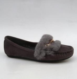 Женские туфли оптом - серые классные мокасины RH-01 DK.GREY