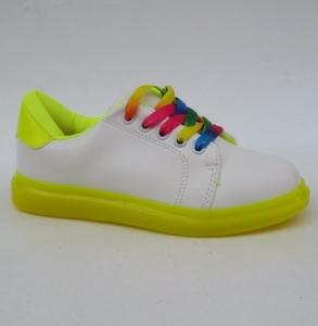 Купить обувь оптом в Украине - кроссовки яркие S-69 YELLOW