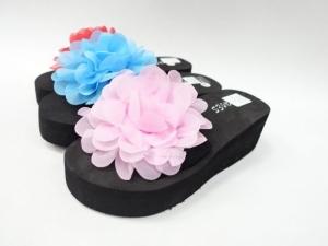 Дешевая обувь оптом - купить летние шлепанцы с цветком 1168 mix