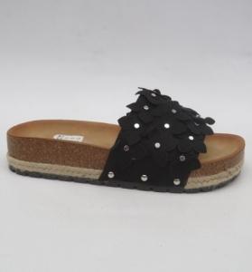 Дешевая обувь оптом - купить шлепанцы черные на лето H27 BLACK