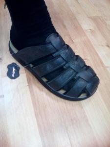 Летняя обувь оптом - купить мужские шлепанцы 1304 черный  босоножки