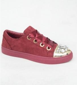 """Купить Кеды женские оптом - слипоны, криперы, эспадрильи Obuw 6192 RED. Обувь оптом - """"Первый обувной"""""""