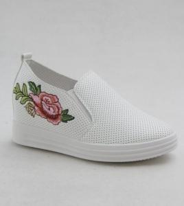 """Купить Кеды женские оптом - слипоны, криперы, эспадрильи Obuw FC735-9 WHITE. Обувь оптом - """"Первый обувной"""""""