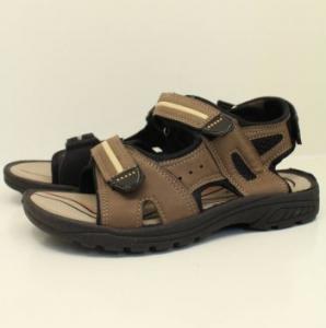 Летняя обувь оптом - купить спортивные мужские сандали mhy-112-blk-grey-bro  босоножки