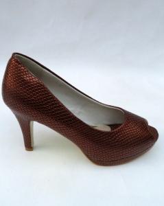 Туфли на шпильке оптом - стильные туфли F15-3 CHOCOLA