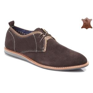 Мужские туфли оптом - благородные мужские туфли SH40-8 COFFEE