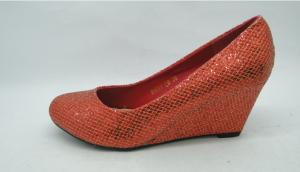 Женские туфли оптом - красные туфли на танкетки B491Y RED