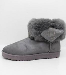 Купить оптом серые замшевые ботинки BOK111 GREY - недорого в интернет-магазине 1shoes