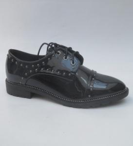 Женские туфли оптом - стильные осенние туфли WL128-1 BLACK