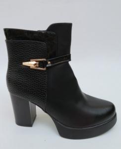 Женская обувь осень - оптом черные модные ботинки на осень YY21 BLACK