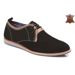Мужские туфли оптом - замшевые мужские туфли SH40-1 BLACK
