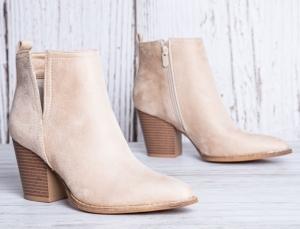 Женская обувь осень - оптом стильные ботинки ze03 beige