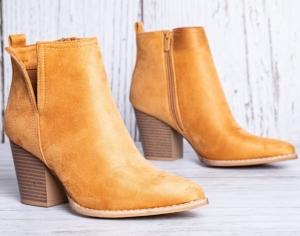 Женская обувь осень - оптом стильные ботинки ze03 camel